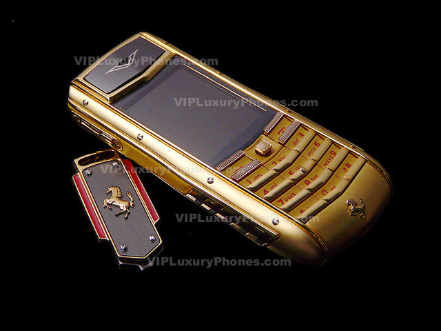 Vertu Ferrari Gold Cell Phone Vertu Ferrari Online