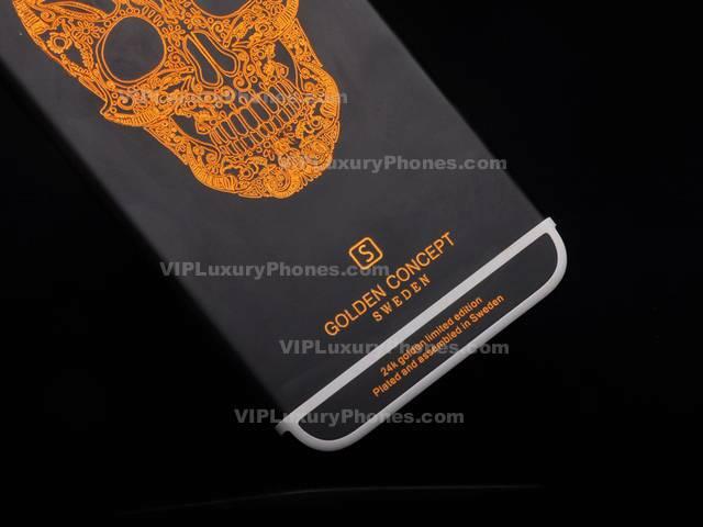 cheap for discount 93c2c 3d23a iPhone 6 Gold Skulls Back Housing