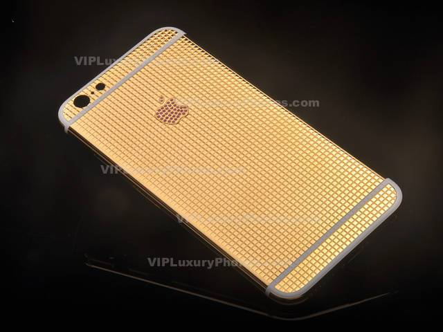 buy popular 5902d ed789 iPhone 6s Plus Crystals Gold Housing