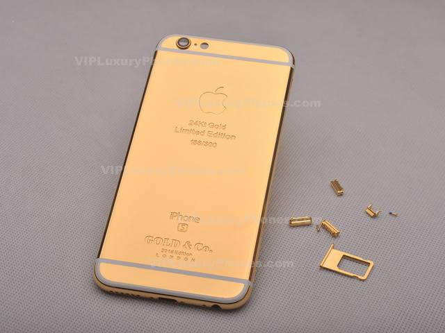 Limited Edition IPhone 6 Plus Gold Back Cover